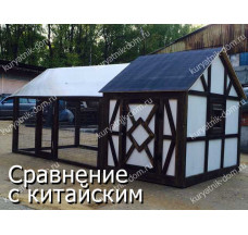 Летний курятник на 10 кур несушек «Радомир Народный»