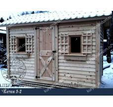 Зимний курятник на 30 кур «Китеж 3-2»