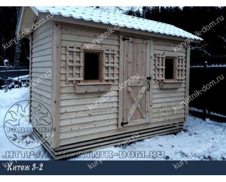 Зимний курятник на 30 кур несушек «Китеж 3-2»