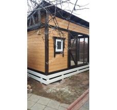 Зимний курятник на 15 кур «Радомир 4 с односкатной крышей»